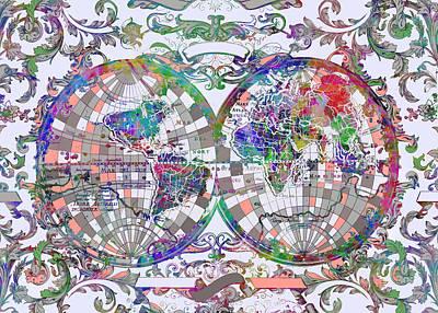 World Map Antique 1 Poster by Bekim Art