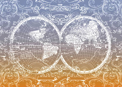 World Map Antique 11 Poster