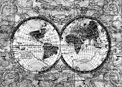World Map Antique 12 Poster by Bekim Art
