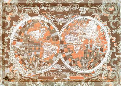World Map Antique 2 Poster by Bekim Art