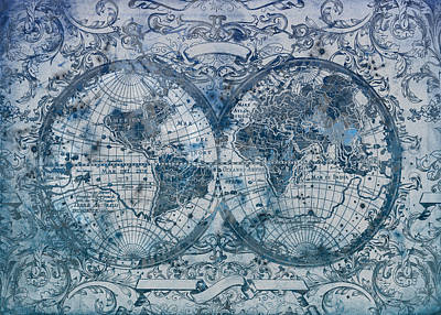 World Map Antique 5 Poster