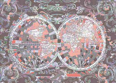 World Map Antique 7 Poster by Bekim Art