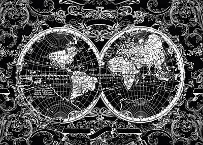 World Map Antique 8 Poster