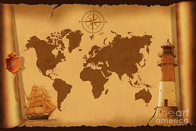 World Map Nostalgic Poster