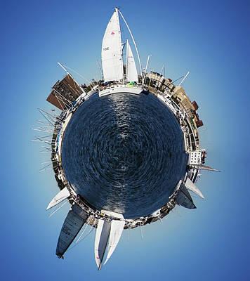 World Of Sailboats Charleston Sc Poster by Dustin K Ryan