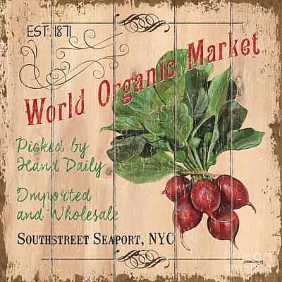 World Organic Market Poster by Debbie DeWitt