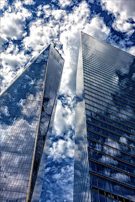 World Trade Center And Clouds Poster by Robert Ullmann