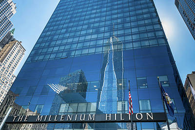 World Trade Center And The Millenium Hilton Poster by Ivan Santiago