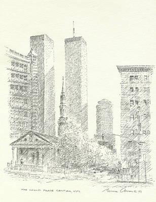 World Trade Center Poster by Bruce Arvon