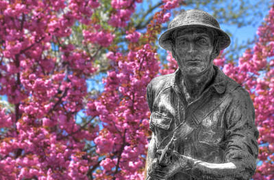 Poster featuring the photograph World War I Buddy Monument Statue by Shelley Neff