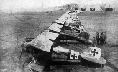 World War I: German Planes Poster