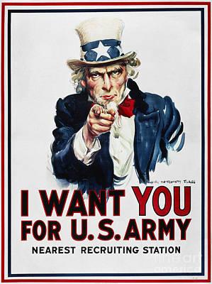 World War I: Uncle Sam Poster by Granger