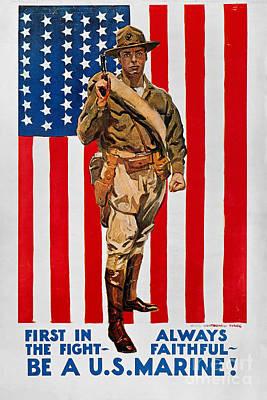 World War I: U.s. Marines Poster by Granger