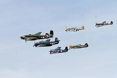 World War II History In Flight Poster