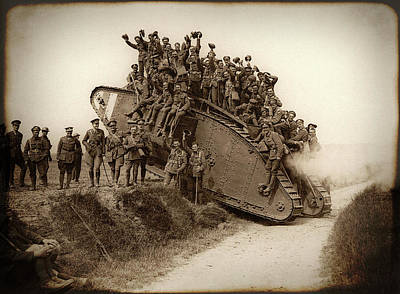 World War One Tank C. 1917 Poster by Daniel Hagerman