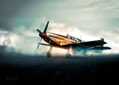 World War Two North American Tp-51c Mustang Poster