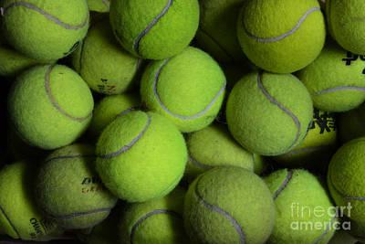 Worn Out Tennis Balls Poster