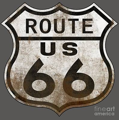 Worn Route 66 Poster