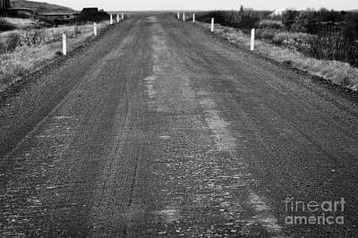 worn rural gravel road in Iceland Poster by Joe Fox