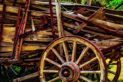 Worn Western Wagon Poster
