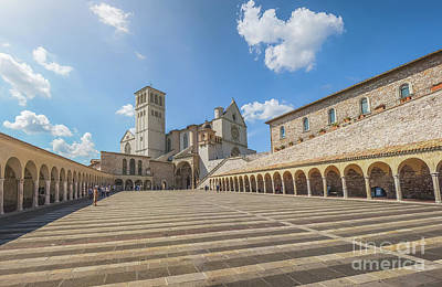 Worshiping Assisi Poster by JR Photography