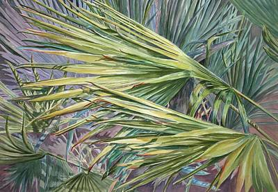 Woven Fronds Poster by Roxanne Tobaison