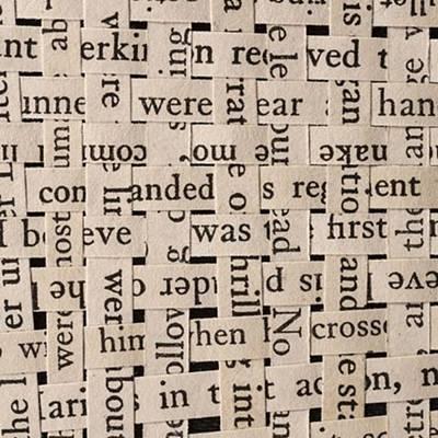 Woven Words By Edward M. Fielding - Poster by Edward Fielding