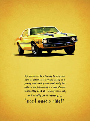 Wow What A Ride Poster by Mark Rogan
