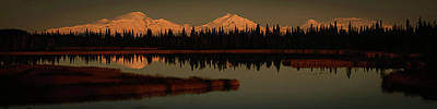 Wrangell Mountains At Sunset Poster