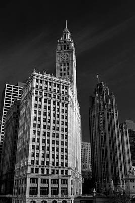 Wrigley Building Chicago Poster by Mike Burgquist