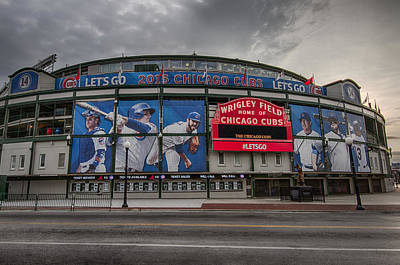 Wrigley Field Chicago Cubs Poster by Mike Burgquist