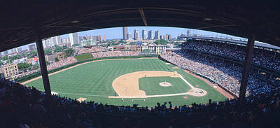 Wrigley Field, Chicago, Cubs V Poster