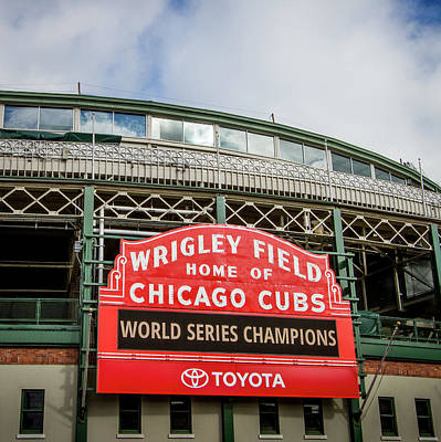 Wrigley Field Marquee Poster by Mike Burgquist