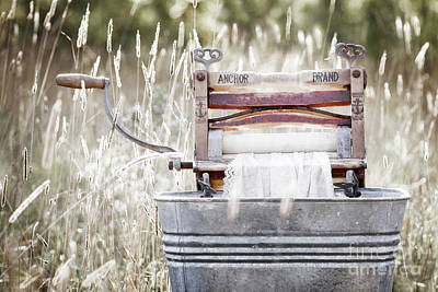 Wringer Washer - Retro Matte Poster