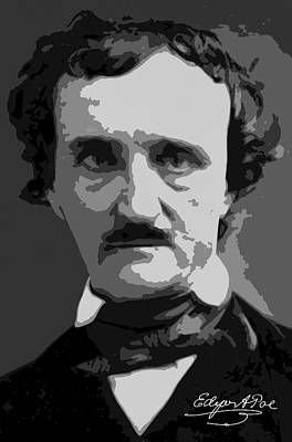 Writer Edgar Allan Poe Poster by Daniel Hagerman