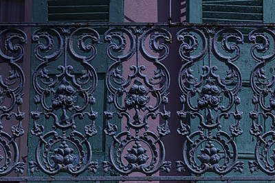 Wrought Iron Railings Poster by Garry Gay