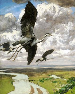 Poster featuring the painting Wundervogel by Pg Reproductions