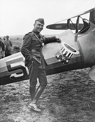 Ww1 Flying Ace Eddie Rickenbacker Somewhere In France Circa 1918 Poster by David Lee Guss