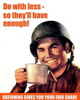 Ww2 Us Army Propaganda Poster Poster by Long Shot