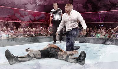 Wwe Wrestling 22 Poster by Jani Heinonen
