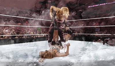 Wwe Wrestling 45 Poster by Jani Heinonen