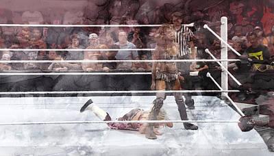Wwe Wrestling 48 Poster by Jani Heinonen