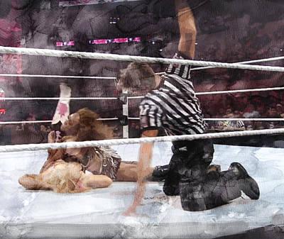 Wwe Wrestling 49 Poster by Jani Heinonen