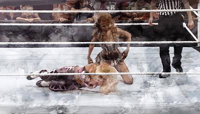 Wwe Wrestling 50 Poster by Jani Heinonen