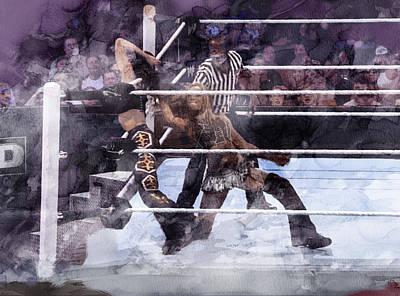 Wwe Wrestling 85 Poster by Jani Heinonen