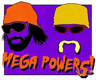 Wwf -- Mega Powers Poster by Kyle West
