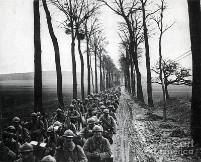 Wwi, French Infantrymen, Battle Poster