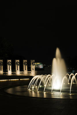 Poster featuring the photograph Wwii Memorial Fountain by Angela DeFrias
