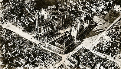 Wwi, Ruins Of Ypres, 1915 Poster