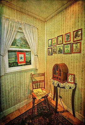 Poster featuring the photograph Wwii Era Room by Lewis Mann